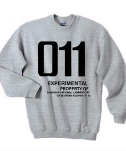 011 Experimental property of hawkins national laboratory sweatshirt