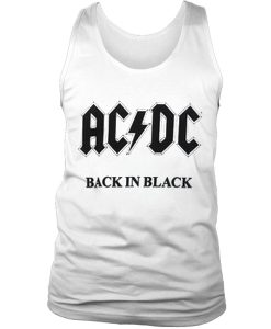 ACDC back in black tank top