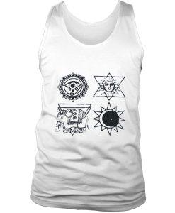 Ancient religion symbol tank top