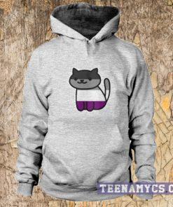 Asexual Pride Cat Hoodie