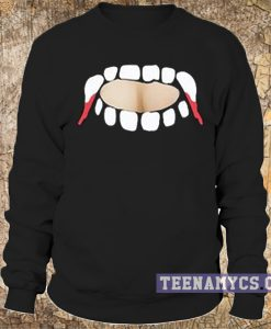Gabby Show, vampire teeth cut out Sweatshirt