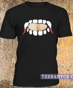 Gabby Show, vampire teeth cut out t shirt