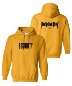 Justin Bieber Purpose Tour Security Hoodie