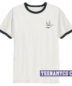 Metal hand sign ringer T-Shirt