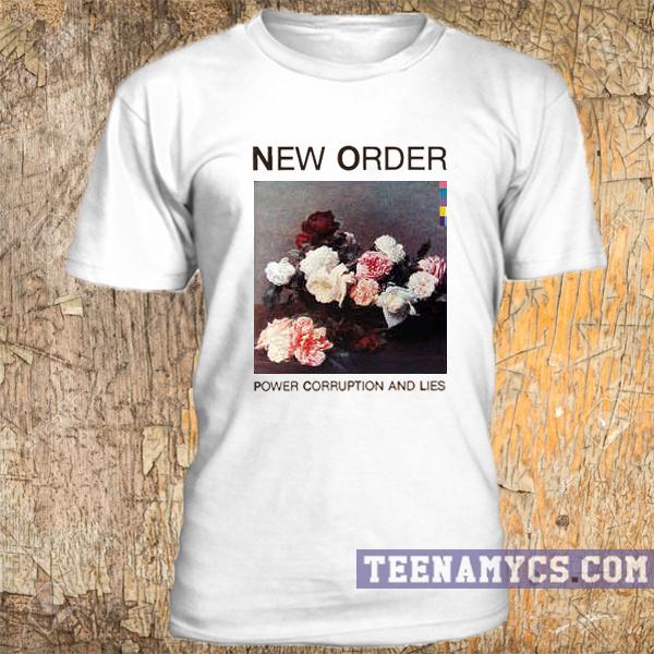 e74e3f5c79a New Order, Power corruption and lies t-shirt