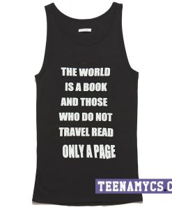 The world is a book Tank top