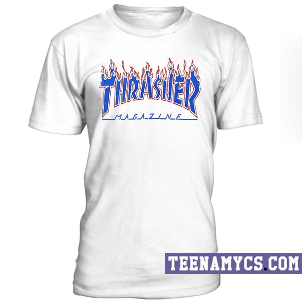 Thrasher Fire Flames T-Shirt