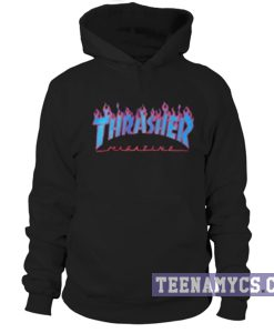 Thrasher blue flames Hoodie