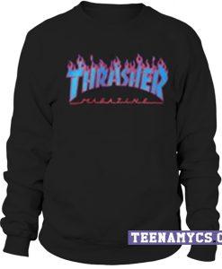 Thrasher blue flames Sweatshirt