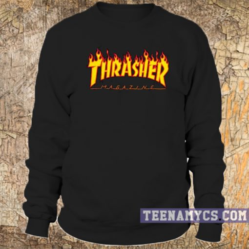 Thrasher flame logo Sweatshirt 2