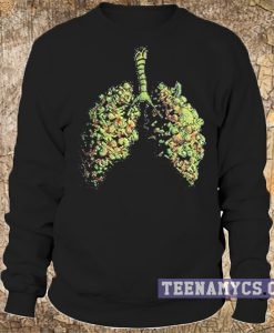 Weed lungs sweatshirt