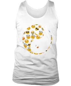 Yin Yang Emoticon tank top