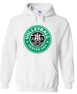 Volleyball Served Hot Hoodie