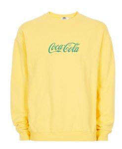 Yellow Coca Cola Sweatshirt