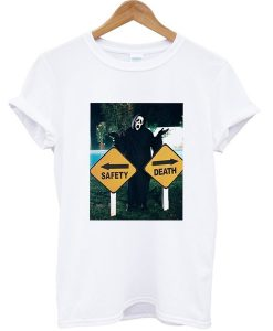 Scream Safety or Death Graphic T-shirt