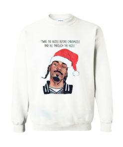 Twas the nizzle before Christmizzle Snoop Dogg Christmas Sweatshirt