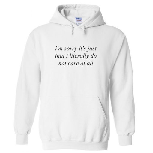 I'm sorry it's just that I literally do not care at all Hoodie