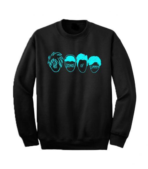 5 Seconds Of Summer Head Sketch Sweatshirt