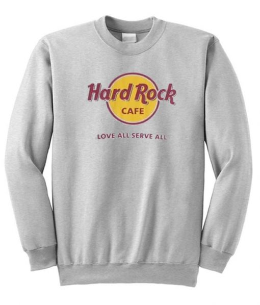 Hard Rock Cafe Love All Serve All Sweatshirt