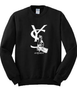 Aint Laurent Gun Sweatshirt